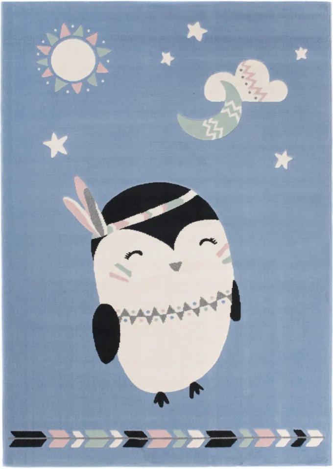 Detský kusový koberec PP Pipi modrý, Velikosti 120x170cm