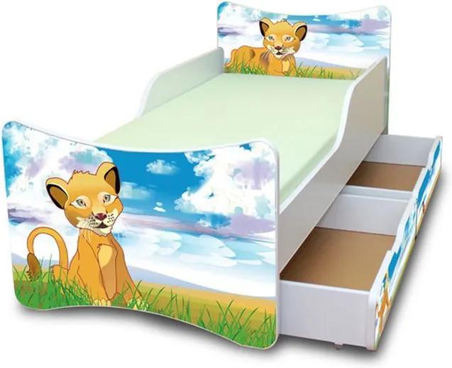 MAXMAX Detská posteľ so zásuvkou 180x80 cm - LEVÍK 180x80 pre všetkých ÁNO