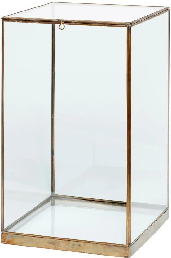 Úložný presklený box Hübsch Galeo, 25 × 42 cm