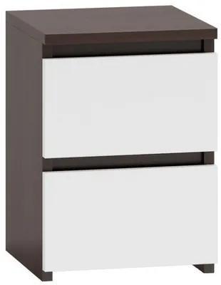 Noční stolík M2 wenge/biela