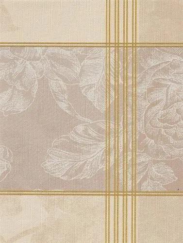 Obrus PVC ruže bielo-hnedá , návin 20 m x 140 cm, IMPOL TRADE