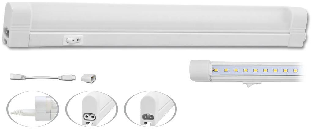 ECOLITE LED Kuchynské úsporné podlinkové svietidlo s vypínačom 5W, SLICK SMD TL2001-28SMD/5W