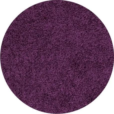 Ayyildiz koberce Kusový koberec Life Shaggy 1500 lila kruh - 80x80 (průměr) kruh cm