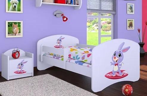 MAXMAX Dětská postel bez šuplíku 160x80cm ZAJÍČEK 160x80 pre dievča NIE