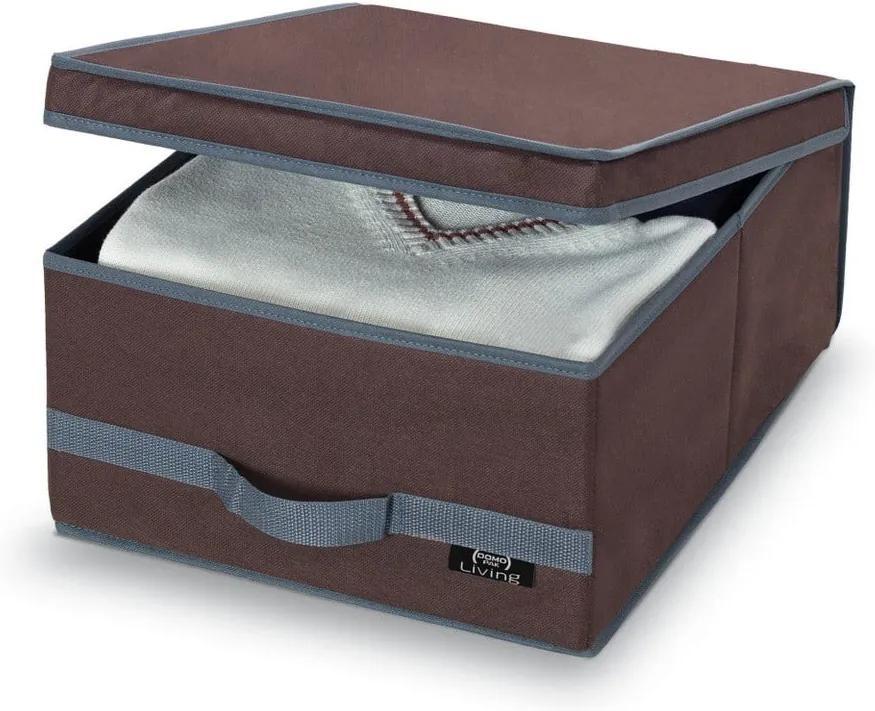 Hnedý úložný box Domopak Living, 18 × 45 cm