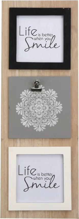Altom Fotorámček na 3 fotografie Mandala, 15 x 42 cm
