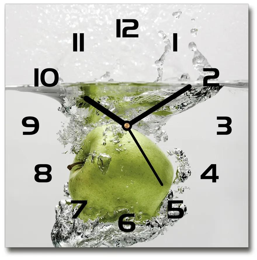 Sklenené hodiny štvorec Jablko pod vodou pl_zsk_30x30_f_67341164