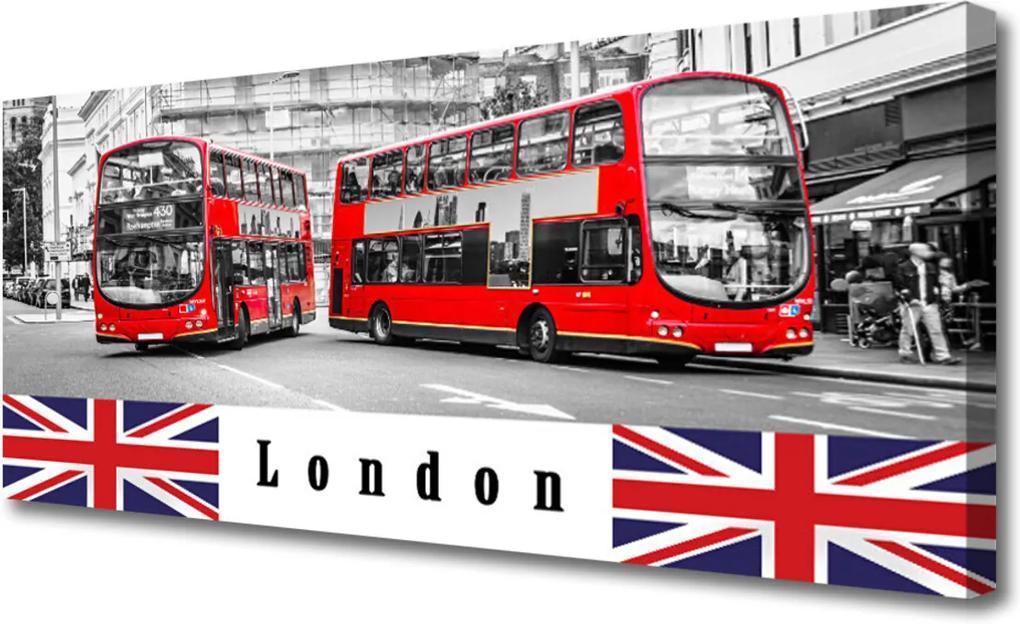 Obraz Canvas Londýn Autobus Umenie