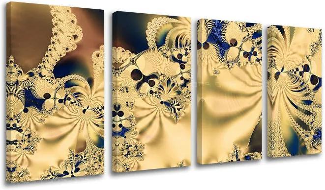 Obraz na stenu 4 dielny ABSTRAKT AB007E41