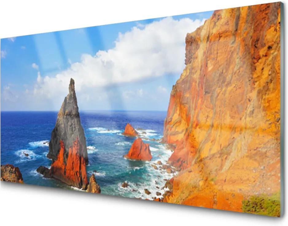 Skleněný obraz Útes pobřeží moře