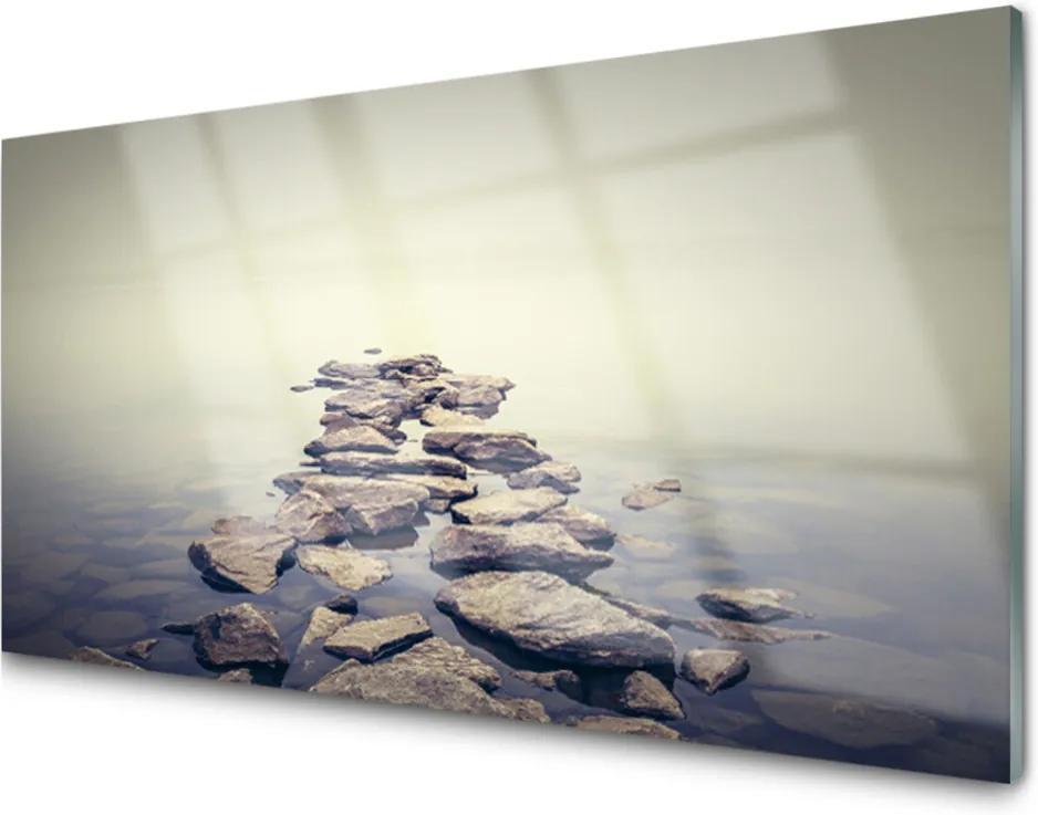 Obraz na skle Kameny voda krajina