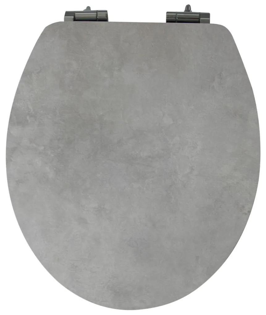 Duschwell WC doska v mramorovom / betónovom vzhľade (betón / šedá), betón / šedá (100292556)
