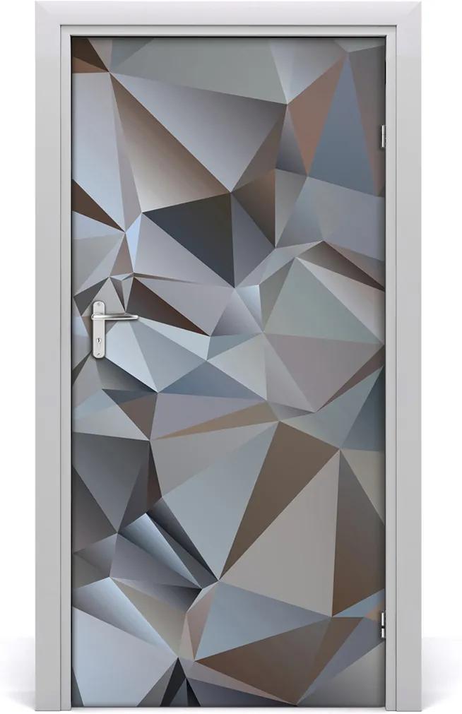 Samolepící fototapeta na dveře Abstrakce trojúhelníky
