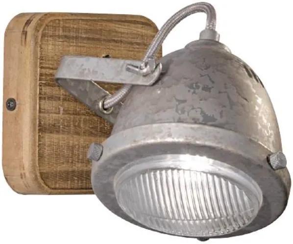 OLD   Nástenná lampa Farba: Zinok
