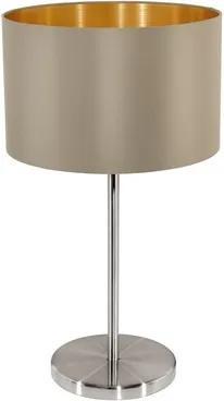 Eglo 31629 MASERLO textilná lampička 1X60W matný ťavia/zlatá