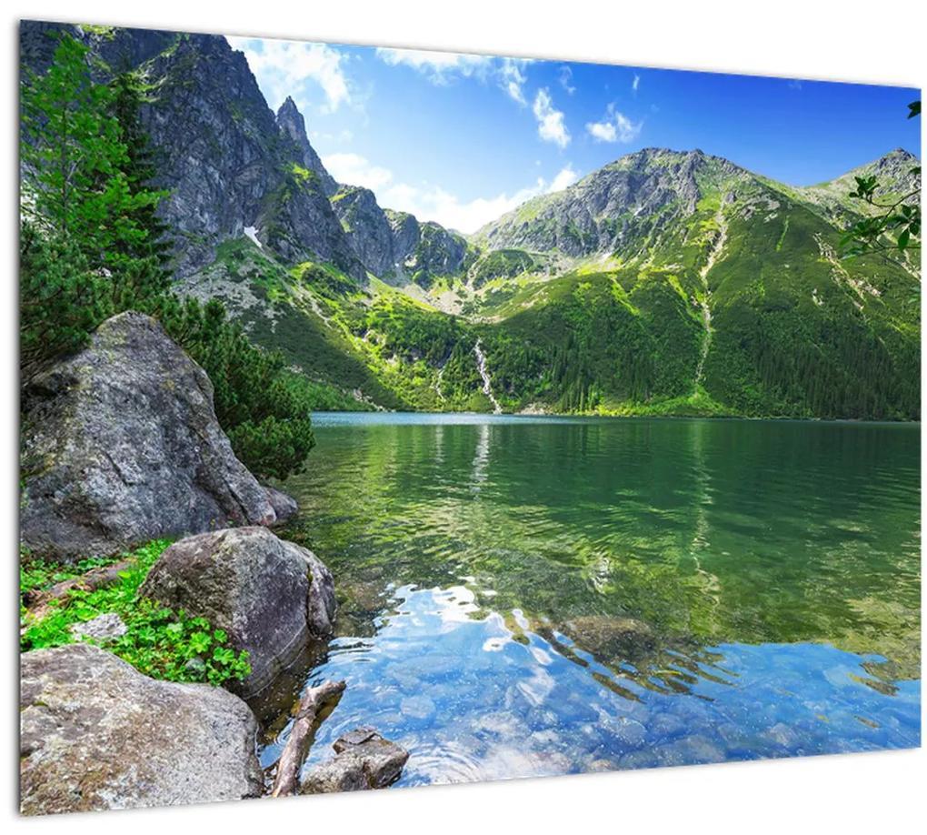 Obraz jazera v Tatrách (70x50 cm), 40 ďalších rozmerov
