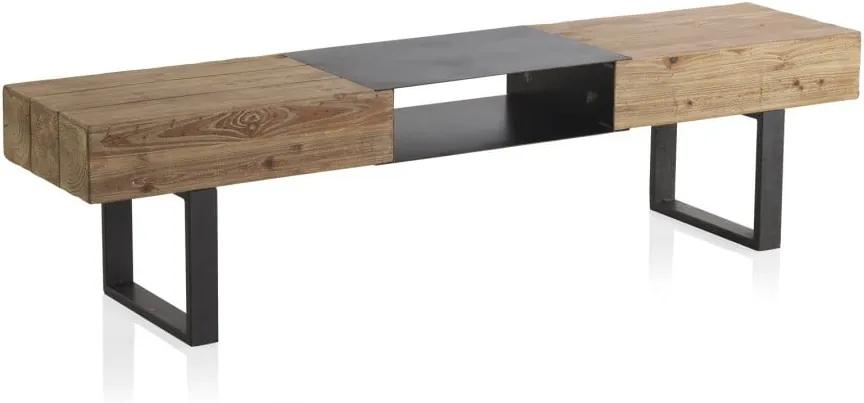 TV stolík s kovovými nohami Geese Robust, 180 x 40 cm