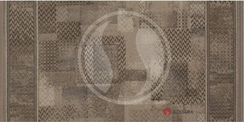 Associated Weavers koberce Protiskluzový běhoun Tribe 37 Khaki - šíře 67 cm s obšitím