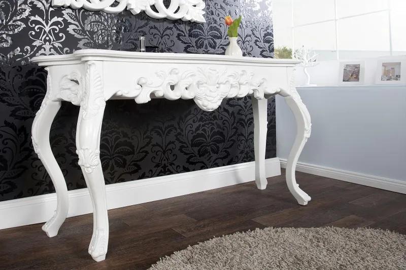 (2626) VENEZIA luxusný konzolový stolík biely 110cm