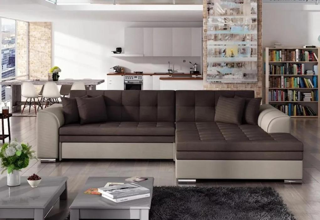 Expedo Rohová rozkladacia sedačka PALERMO, 294x80x196 cm, jasmine 29/jasmine 22, pravá