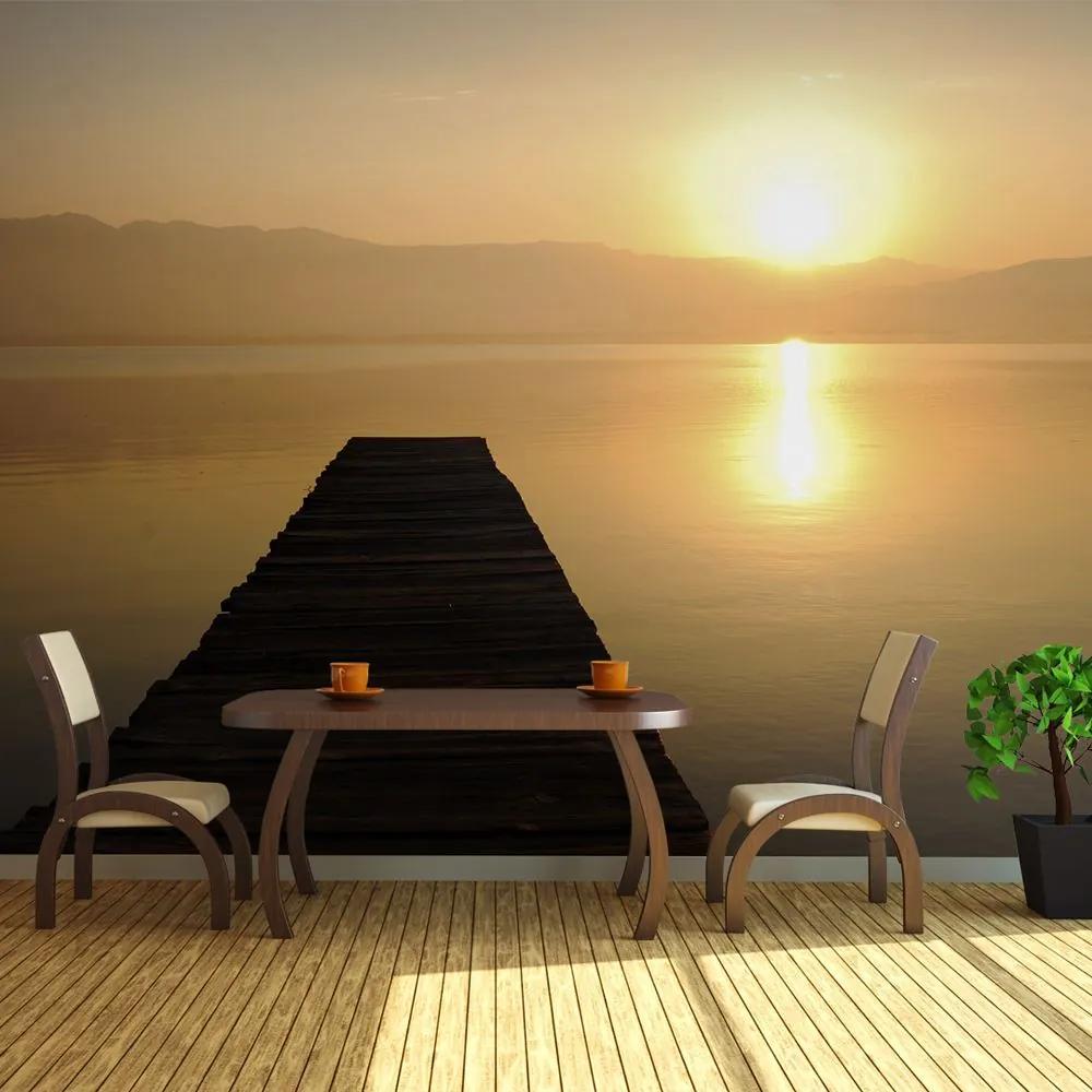 Fototapeta XXL - jetty, lake, sunset... 550x270