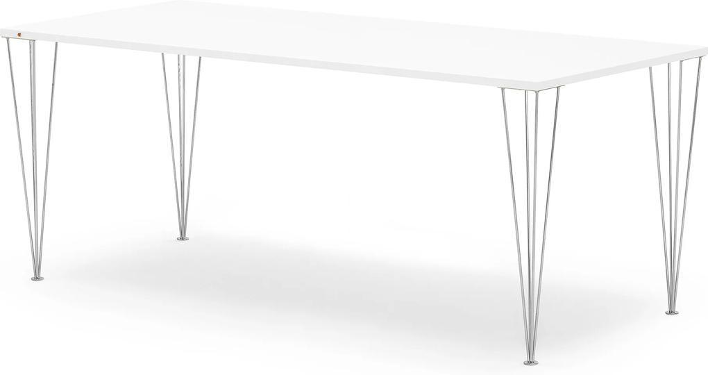 Jedálenský stôl Zadie, s HPL povrchom Š 2000 x H 800 x V 735 mmm, biela