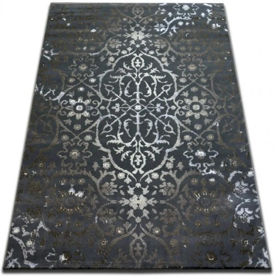 Kusový koberec Ozzy sivý, Velikosti 133x190cm