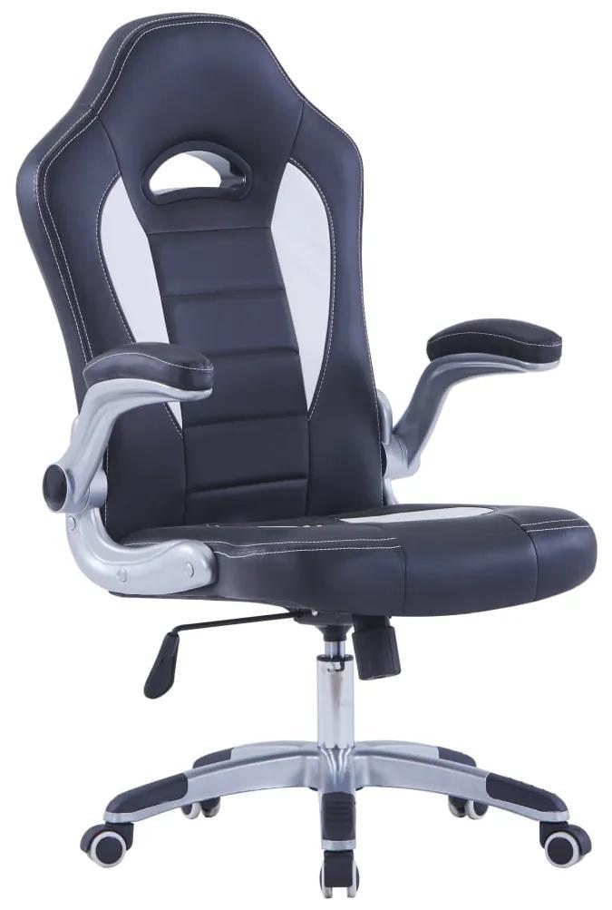 vidaXL Herná stolička čierna umelá koža