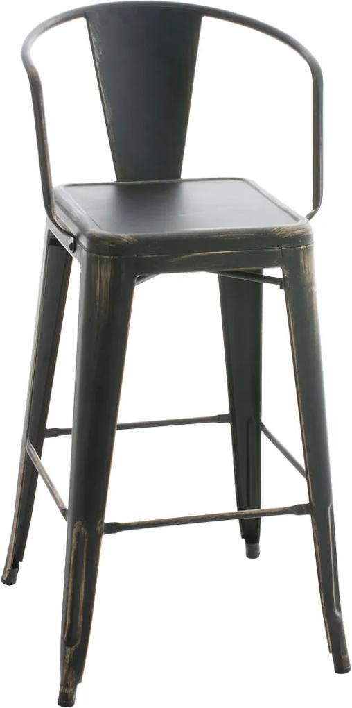 Kovová barová stolička DS10480834 antik