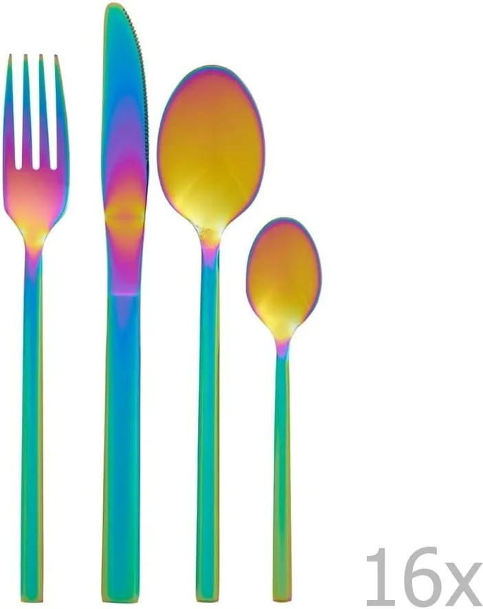 BonamiSada 16 príborov s dúhovým efektom Premier Housowares Rainbow