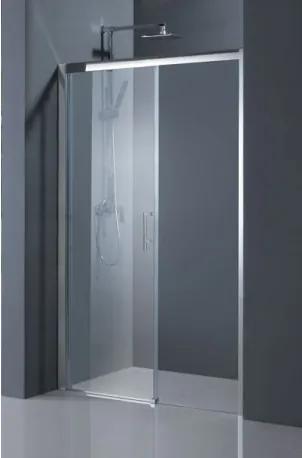 Sprchové dveře HOPA ESTRELA - Levé (SX), Hliník chrom, Čiré bezpečnostní sklo - 6 mm, 140 cm (BCESTR14CCL)