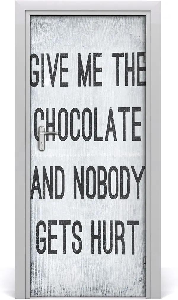 Fototapeta na dveře Čokoláda