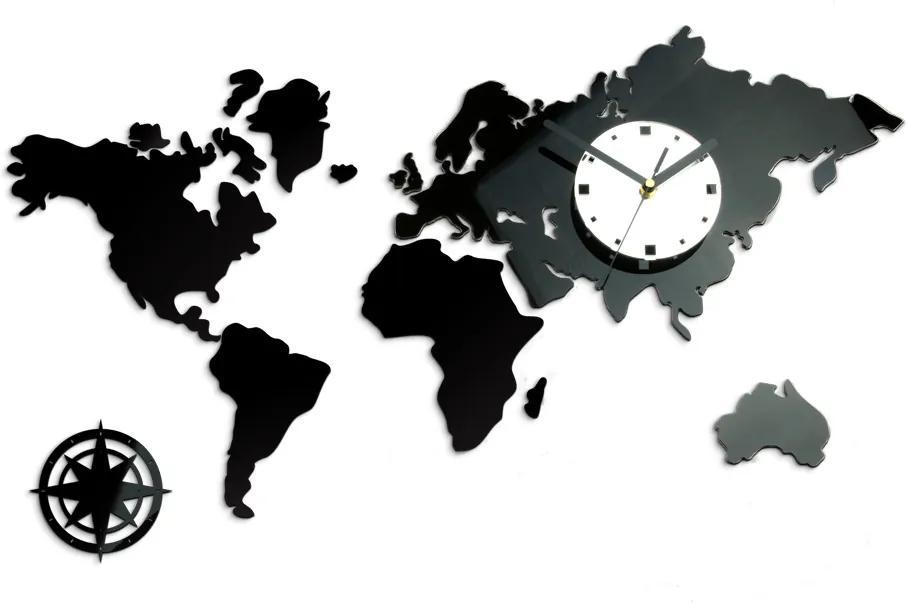 Moderné nástenné hodiny WORLD NH021