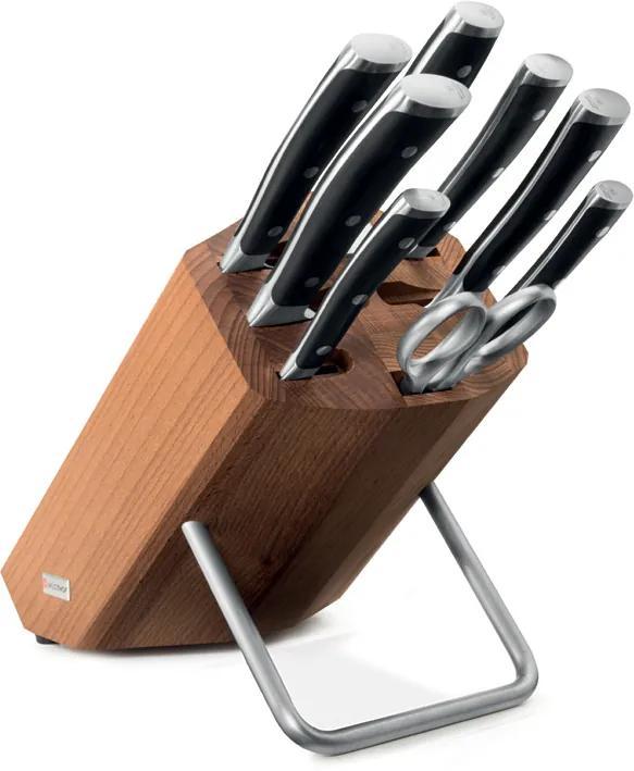 WÜSTHOF Súprava nožov s blokom, ocieľkou a nožnicami 9-dielna Classic Ikon