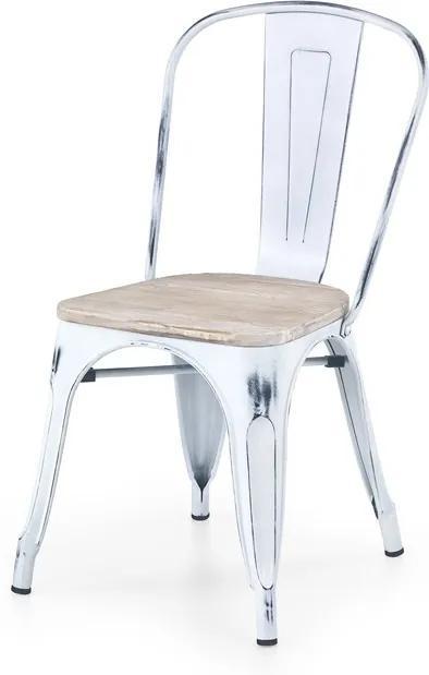 Jídelní židle K204 bílá retro Halmar