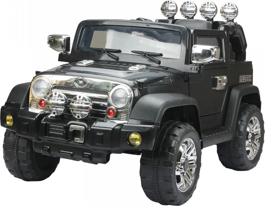 Dětské elektrické auto Jeep, černé