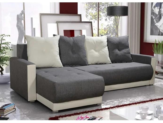 Elegantná sedacia súprava s opierkami LEONARD BIS, šedá + krémová