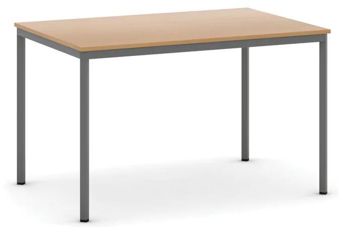 Jedálenské stoly, 1200 x 800 mm, buk, tmavo sivá konštrukcia