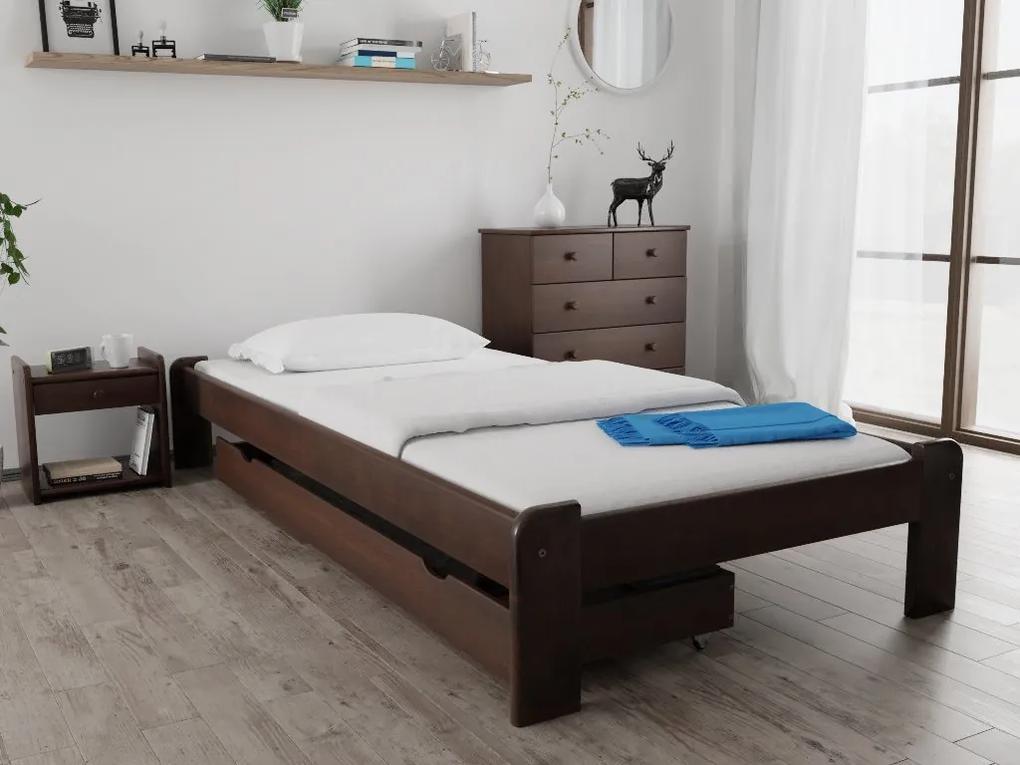 Posteľ Ada 90 x 200 cm, orech Rošt: S latkovým roštom, Matrac: S matracom Economy 10 cm