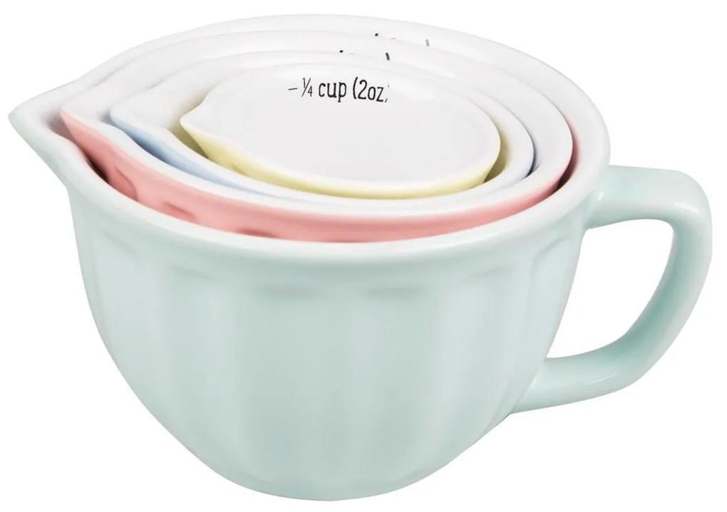 Sass & belle Keramické odmerky Retro Pastel - set 4 ks