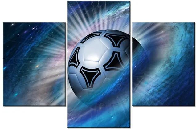 Tlačený obraz Vesmírna futbalová lopta 90x60cm 2478A_3B