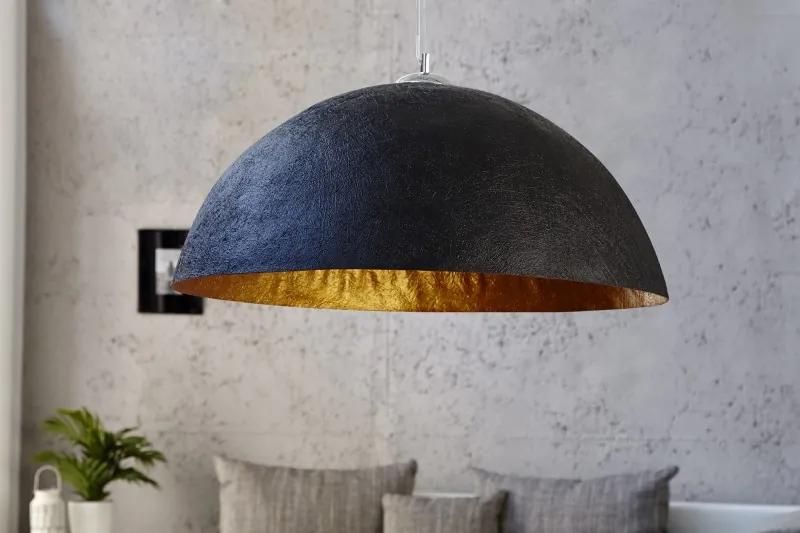 Závesná lampa Žiarivé čierne zlato 70cm