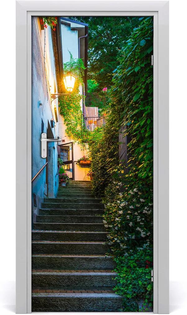 Fototapeta samolepící dveře Staré město schody