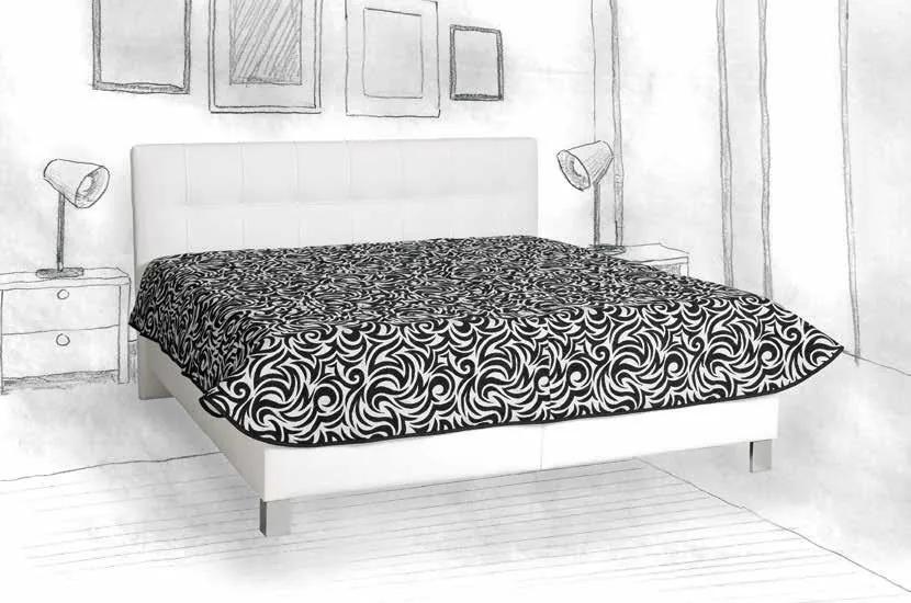 Čalúnená posteľ Elsa, 180x200cm, biela
