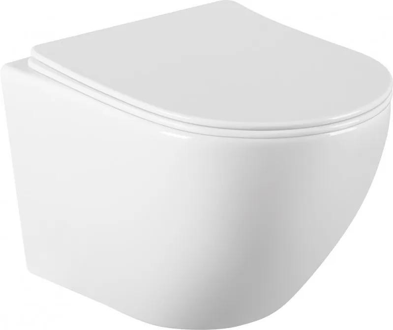 Mexen LENA Rimless, závesná WC misa, 48 x 36 cm, biela, 3322XX00
