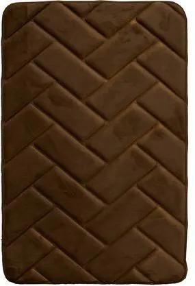 BO-MA koberce Protiskluzová koupelnová předložka 3D 7288 coffee - 50x80 cm