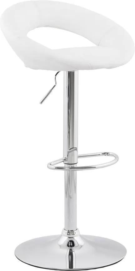 Moderná barová stolička Dylan biela