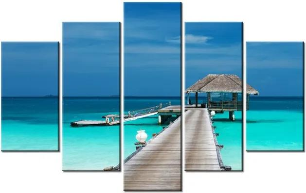 Tlačený obraz Drevené mólo a nádherná voda 100x63cm 1328A_5D
