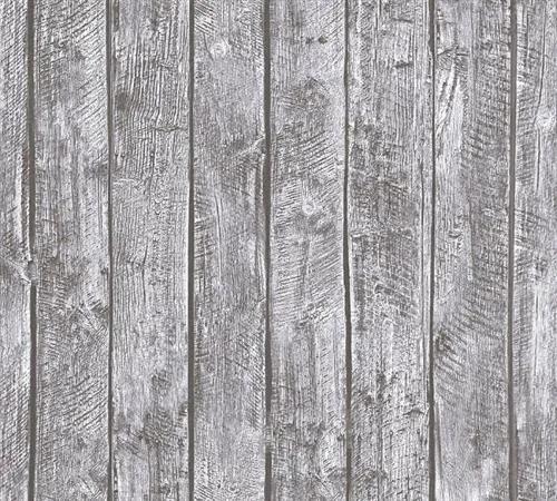 Detské vliesové tapety na stenu Little Stars 35841-2, rozmer 10,05 m x 0,53 m, drevené dosky sivé, A.S.Création