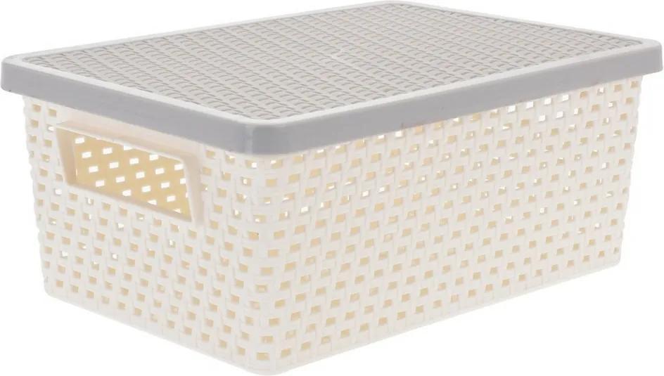 Úložný box 4 l, krémová